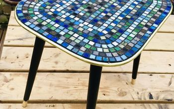 Old Coffee Table Makeover Transformation  With Mosaic Glass Tiles