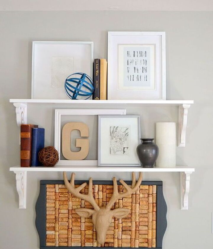 Floating Wall Shelves White (Amy)