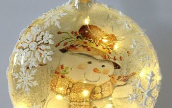 diy lighted decoupage winter scene