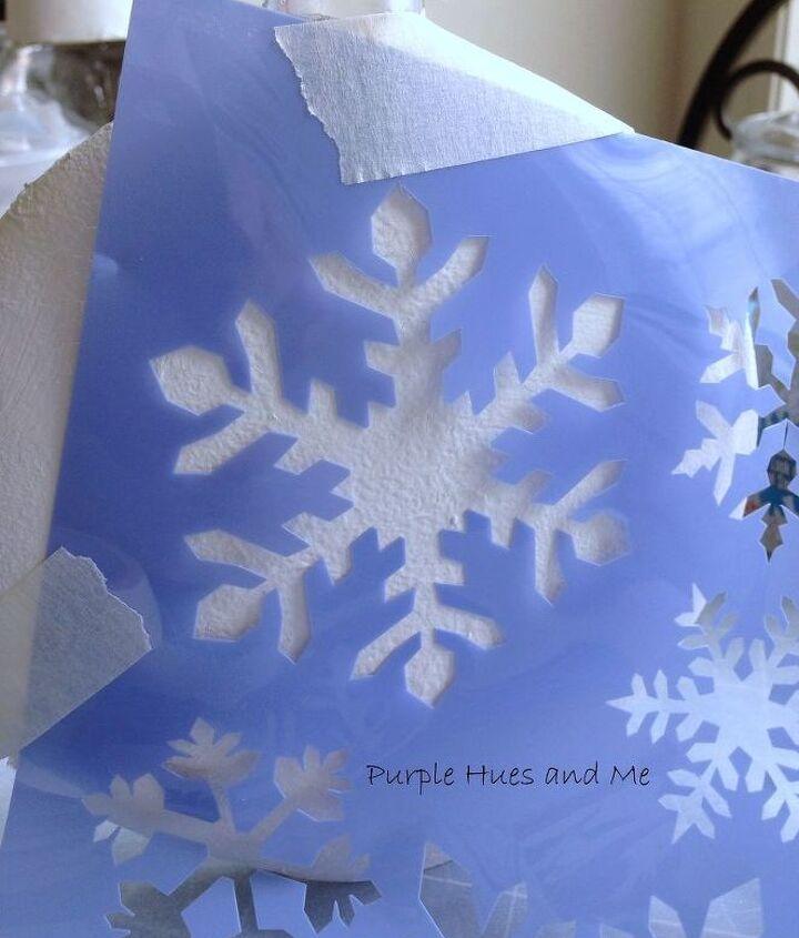 diy lighted decoupage winter scene