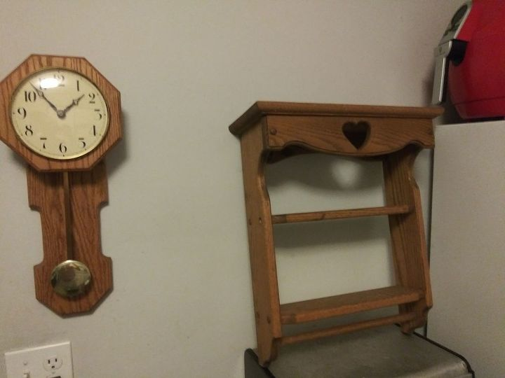q how can i update a handmade clock and shelf that my grandfather made