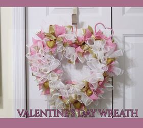 How To Make A Valentine S Day Glam Deco Mesh Wreath Diy Hometalk