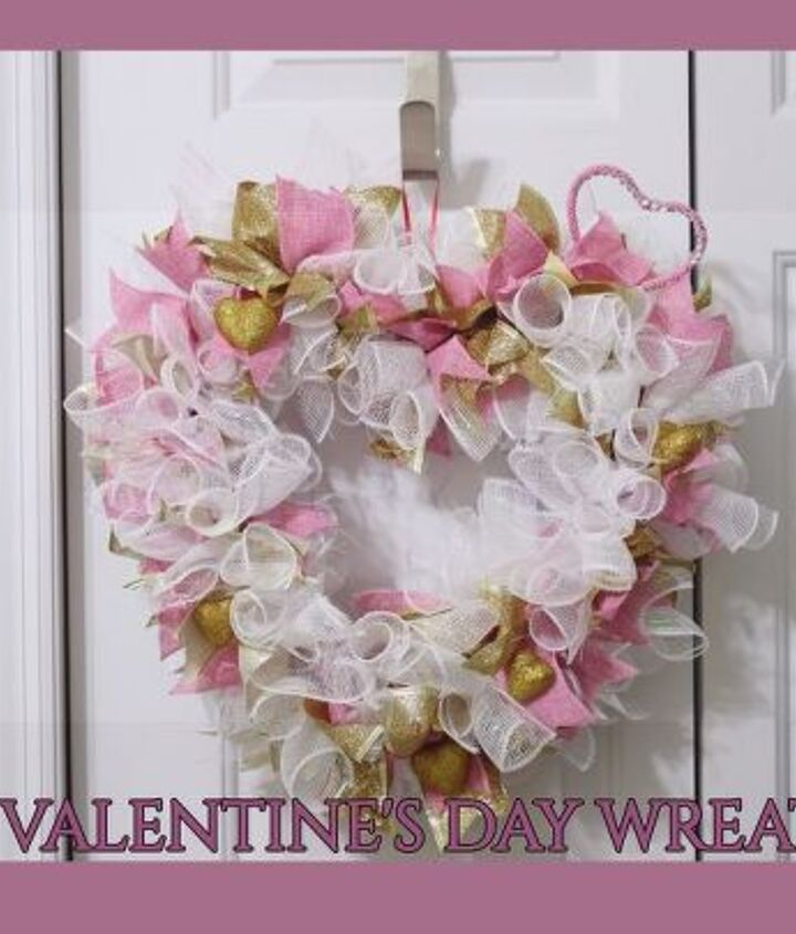 valentine s day glam deco mesh wreath