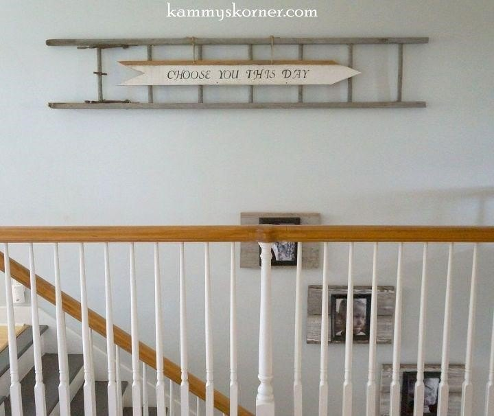 Reclaimed Wood Ladder (Kammy's Korner)