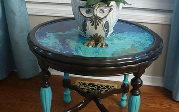 Antique Side Table Gets a $15 Make-over!