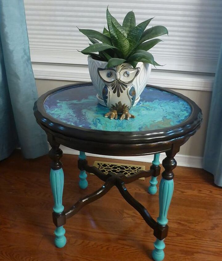 antique side table gets a 15 make over