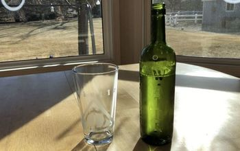 Etched Recycled Wine Bottle