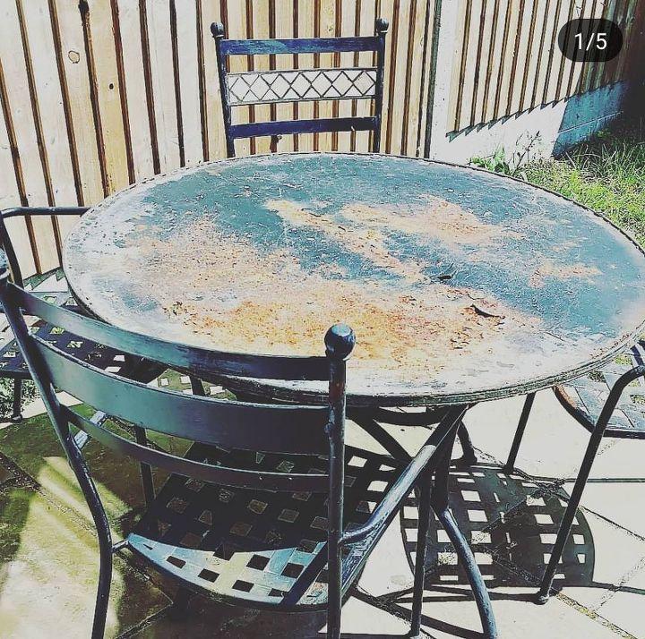 Sad, distressed table.
