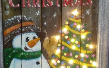 christmas sign with snowman