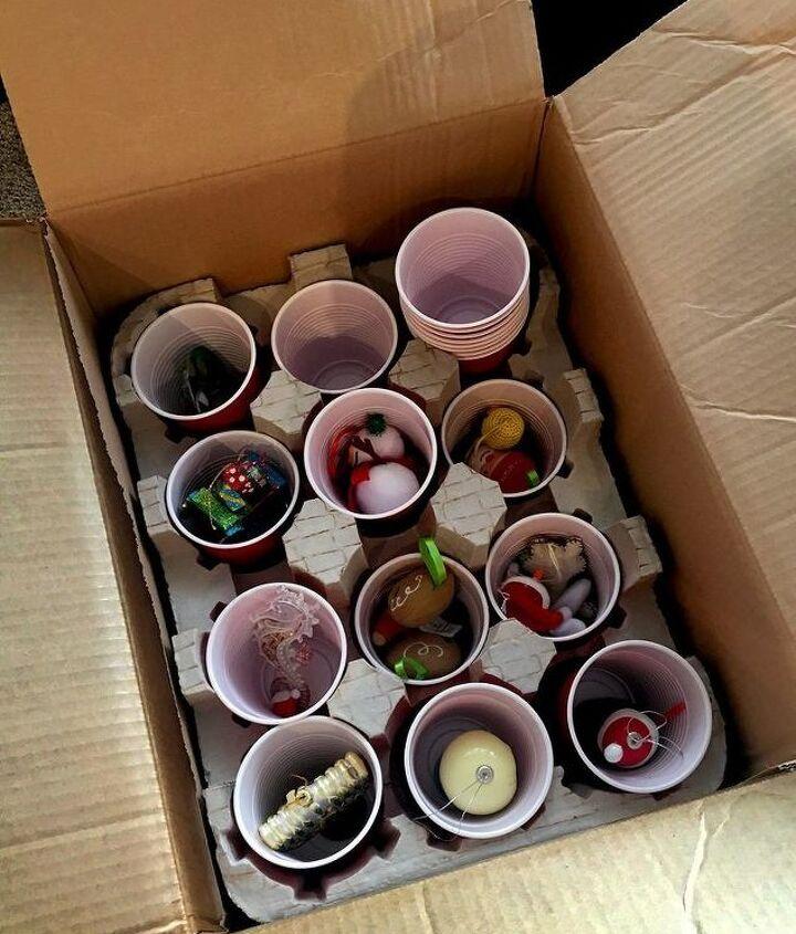 wine box ornament storage
