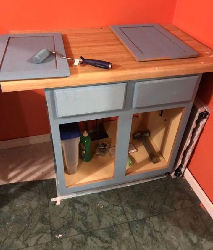 mud room cabinet update