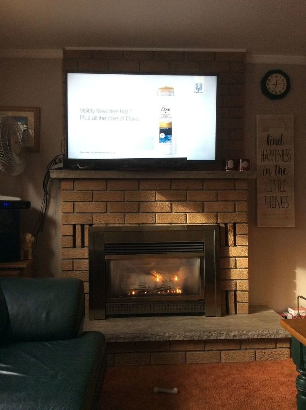 q what is the easiest way to update a 30 year old brick fireplace