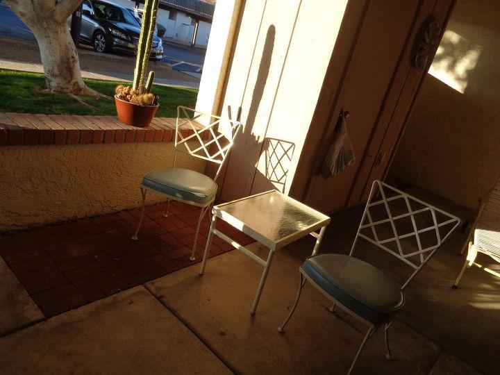 How do I repaint glazed/shiny painted wrought iron patio ...