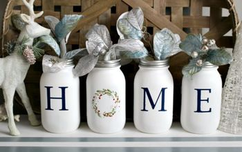 Make A Pretty Mason Jar Home Centerpiece