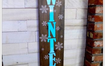 DIY Winter Wall Sign - Winter Decor With the Help of a Cricut