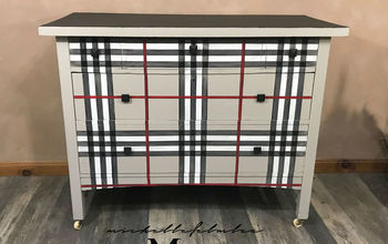 Burberry-Inspired Design on Vintage Dresser