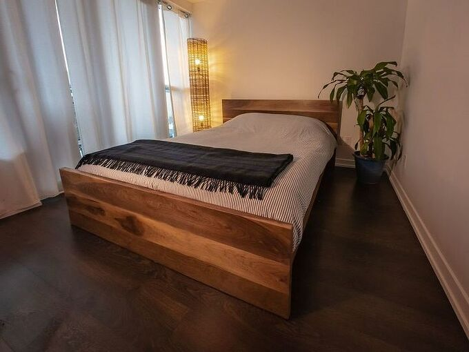 customize your room by building your own bed frame, DIY Bed Frame Zac Builds