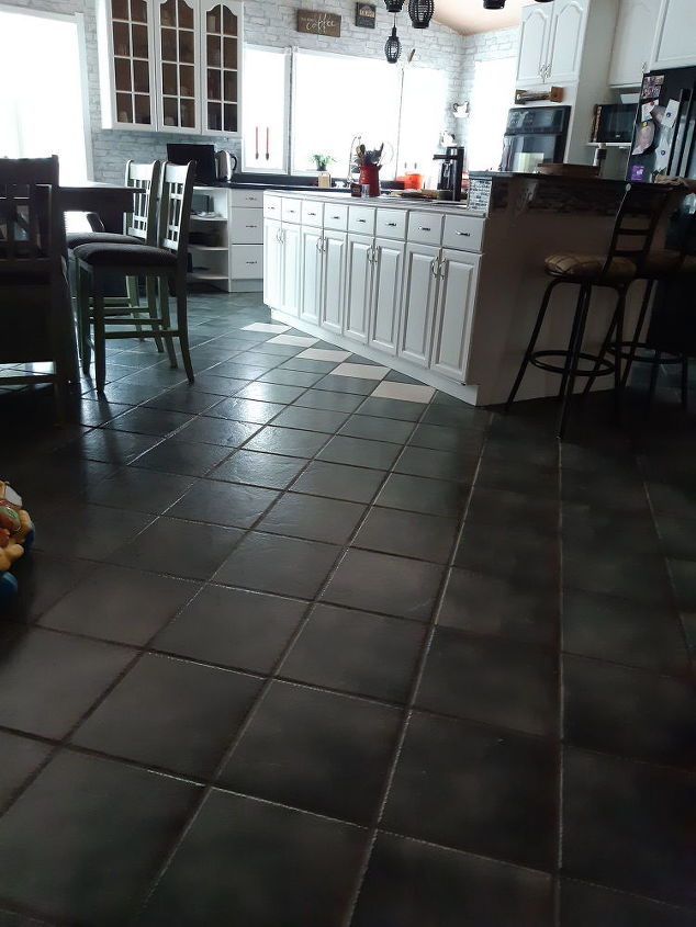 Ceramic Tiles Floor But Not The Grout