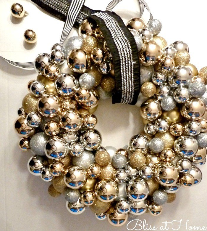 Christmas Ornament Wreath (Bliss at Home)