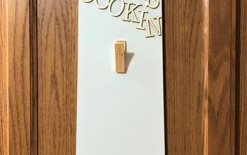 Quick and Easy Hanging Recipe Holder