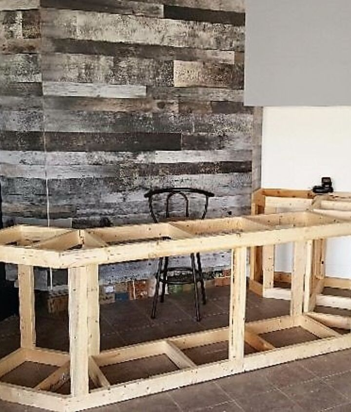 The bar framing was then built up to counter