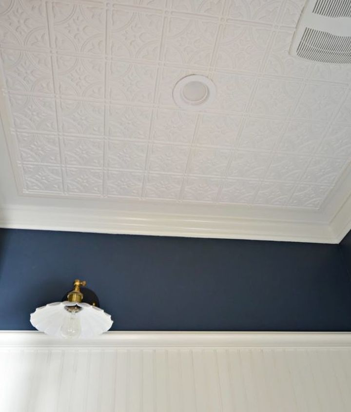 dress up your ceilings with faux tin ceiling tiles