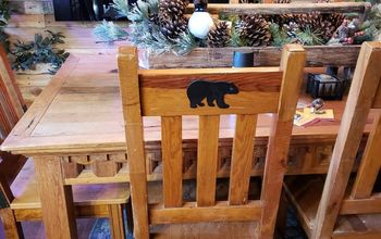 Black Bear Dining  Chairs for 6 Dollars