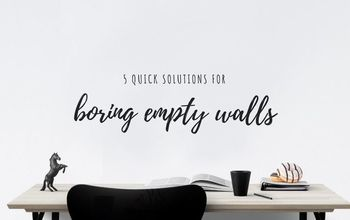 Five Solutions for Boring Empty Walls
