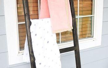DIY Blanket Ladder for Baby Blankets