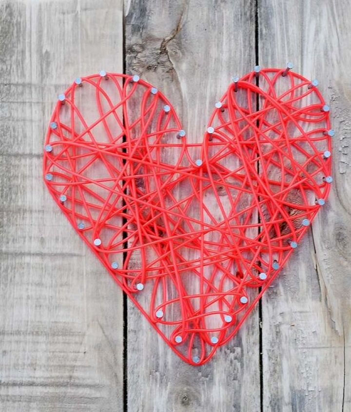 diy neon string heart