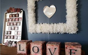 Upcycled Valentine's Day Decor - Trashy House Tour