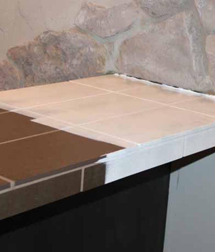 give ugly tile countertops a transformation