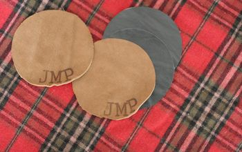 Make Personalized Coaster From Leather Scraps (a Great Gift for Him!)