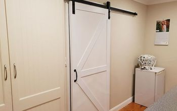 Sliding Kitchen Barn Door (from Drab to Fab)