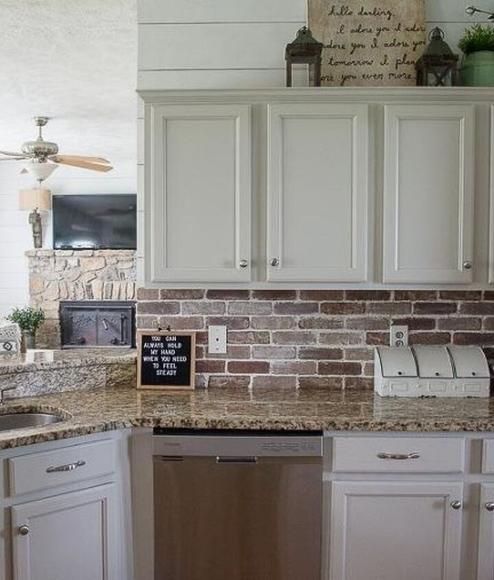 easy diy brick backsplash