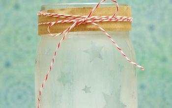 Etched Mason Jar Craft Project & Storage Idea