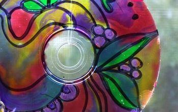 DIY Suncatchers From Upcycled CDs