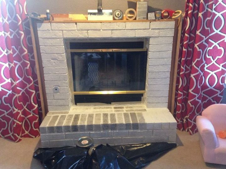 fireplace facelift using paint