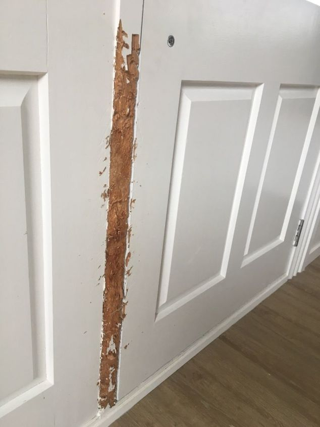q how can i repair dog damaged door frame