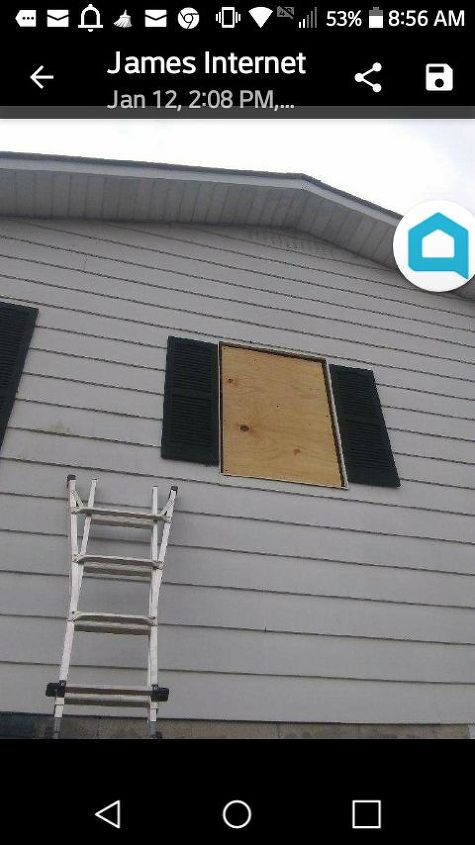 q how to fix an outside where the window was removed