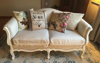 First Upholstery Project Using HOT GLUE GUN!