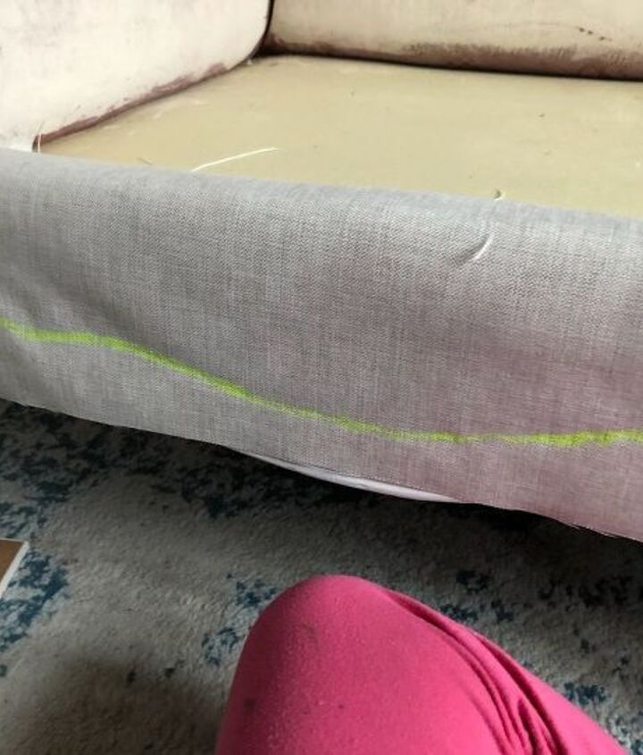 How To Upholster Couch Project Using Hot Glue Gun Hometalk
