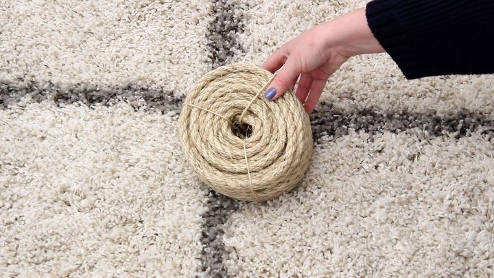 How To Make A Diy Round Rope Area Rug Hometalk