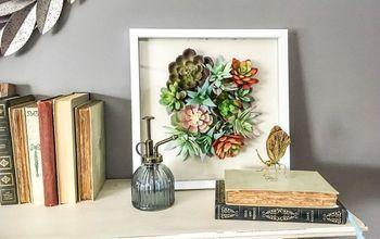 Dollar Store 3D Succulent Art