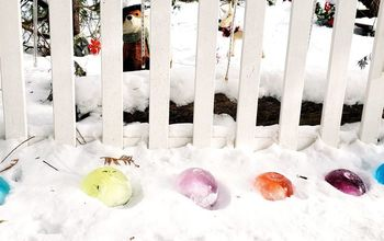 Giant ICE Marbles- the Best Winter Yard Decor!