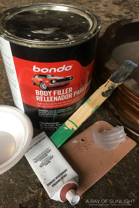 how to repair trim and details on furniture