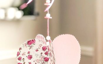 A Hanging Paper Heart Craft