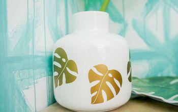 Tropical Leaf Vase