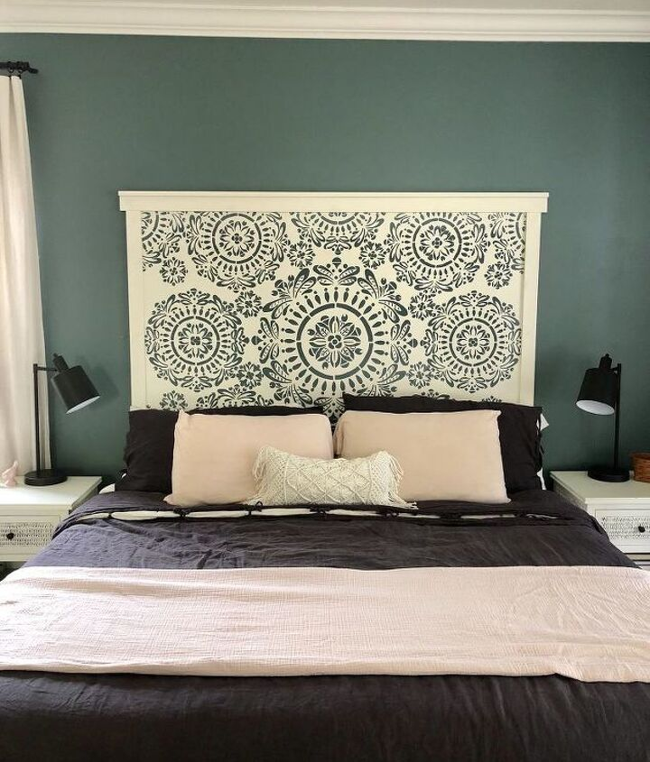faux hand carved wood headboard