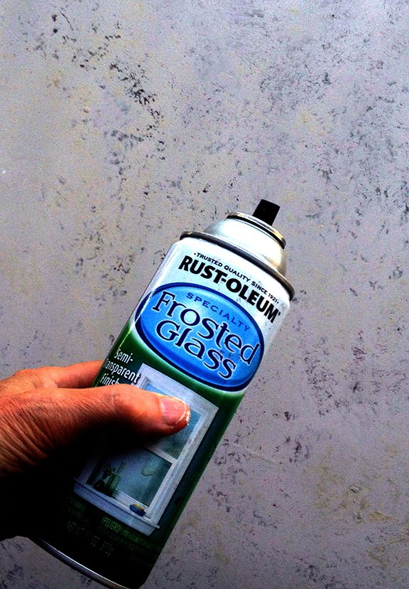 how to paint glass or plex with see thru nature effects